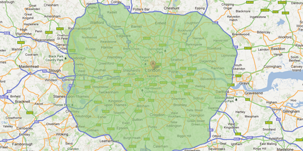 Office Furniture Clearance Map of Essex